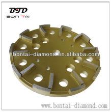 Tête de meulage de diamant pour le broyage de la surface de béton et de maçonnerie