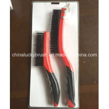 2piece Double Colour Handle Mini Wire Set Brush (YY-519)
