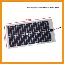 28W Flexível Solar Photovoltaic Componente de painéis solares de silício monocristalino