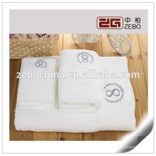 High Quality 5 Star Hotel Used Embroidery Egyptian Cotton Bath Towel Sets