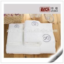 Super qualidade 16s excelente água absorvente Toalhas de algodão branco atacado Hotel