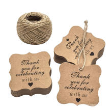 wholesale Thank you tag  with Jute Twines rope