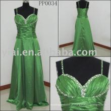 PP0034 Green 2010 fabrica vestido de noiva sexy