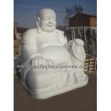 Piedra antigua Buddha de mármol para la escultura de la estatua de Feng Shui (SY-T028)