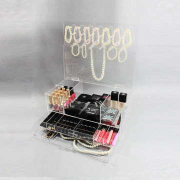 Clear Acrylic Jewelry en Cosmetic Makeup Organizer