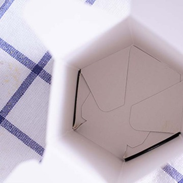 Mewah Hexagon Cute Cookies Box Packaging with Window