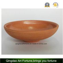 Tazón de cerámica de arcilla natural al aire libre grande