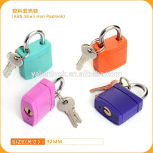 ABS Shell Iron padlock Plastic cover padlock