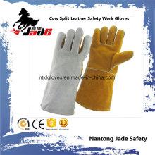 Luva em pele de couro de vaca Luva de trabalho de segurança industrial