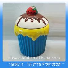Hot-Selling Keramik-Speicherglas mit Eis-Figur