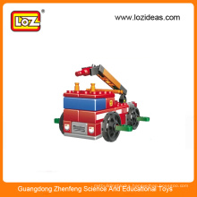 LOZ educational fire engine building block toys