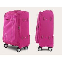 Nylon resistente al agua 4 ruedas blandas Carrito para equipaje incorporado
