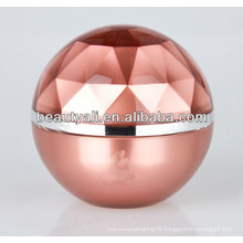 Ball Shape Luxury Plastic Cosmetic Jar 5ml 15ml 20ml 30ml 50ml 80ml 100ml