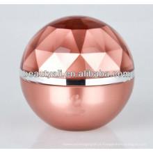 Ball Shape Luxo plástico cosméticos Jar 5ml 15ml 20ml 30ml 50ml 80ml 100ml