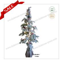 Decoração Artificial Árvore de Natal PE de 140 cm com luzes LED