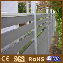 WPC Aluminium Wood Fence/ Laminate Wood Garden Fence Trellis