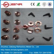 Tungsteno W70cu30 contacto eléctrico con ISO9001 de Zhuzhou Jiabang