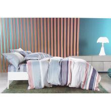 Home design listrado de algodão 4 peças conjunto de cama