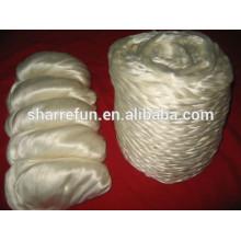 Dessus en fibre de soie brute chinoise blanc