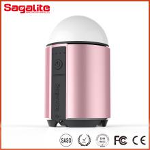 RGB e branco luz impermeável banco de energia recarregável com lanterna de emergência LED