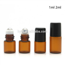 2ml 5ml amber empty refillable roll on essential perfume oil
