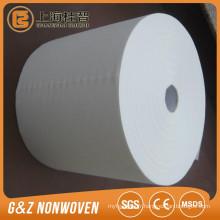 100% tissu non-tissé viscose énorme rouleau de tissu 100% rayonne