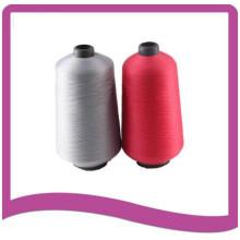 Fils de polyester filés teints en cône en plastique pour coudre le fil