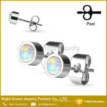2017 Cheap Wholesale Stud Earrings Press Fit Opal Jewelry Post Ball Earring Jewelry