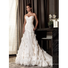 ZM16032 2016 Luxury Vintage Long Train Bridal Wedding Gown Real Photos Champagne Color Lace Design Mermaid Wedding Dresses