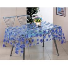 Novo design pvc transparente padrão impresso toalha de mesa (tt00284)