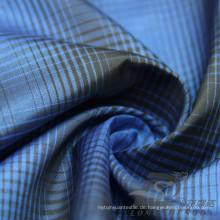 Wasser & Wind-resistent Mode Jacke Daunenjacke Gewebt Plaid Jacquard 100% Polyester Kationische Garn Filament Stoff (X022)