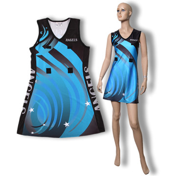 Sport personnalisé netball uniform Girl Body robe de Netball