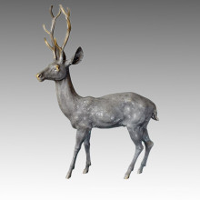 Animal Grand jardin Sculpture Statue en bronze masculin Statue en bronze Tpal-058