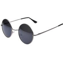 Круглая форма черные оправы модные женские солнцезащитные очки