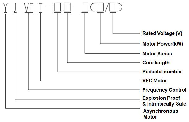 model of VFD Motor