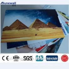 Alunewall 2000mm largura A2 e B1 Grade certificada à prova de fogo ACP painéis de parede 2-6mm espessura cor de alumínio composto painel
