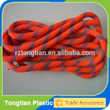Cuerda trenzada coloreada del poliester con la base de acero