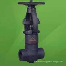 Valve à guillotine forgée en acier de pression de 2500 livres (GAZ41H)