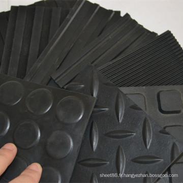 Tapis de plancher de feuille en caoutchouc antidérapant de prix usine