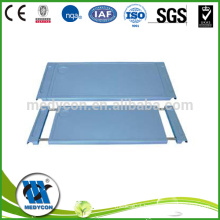 Adjustable type plastic hospital table over bed