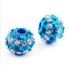 Yiwu Factory price cheap wholesale Alloy+Diamond shamballa beads