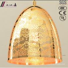 Nueva iluminación colgante de la individualidad redonda hueca del oro del diseño con el restaurante