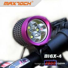 Maxtoch BI6X-4 3 * CREE XML T6 morado montaña bicicleta luces