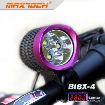 Maxtoch BI6X-4 3 * CREE XML T6 luces de bicicleta de montaña púrpura