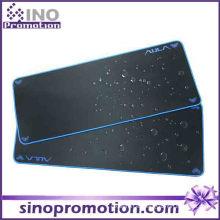 Alfombrilla de ráton grande antideslizante con base de goma (borde azul)