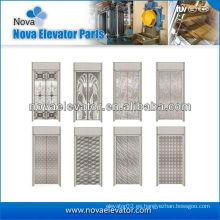 Panel de puerta de ascensor de acero inoxidable estándar, componentes de elevación