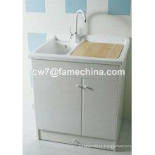 Banheira de lavagem em PVC de design quente 2013 com armário