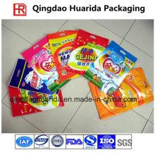 Bolso de empaquetado del detergente del detergente del lavadero / del detergente del detergente del lado de tres sellos laterales