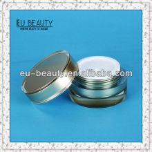 100г Цилиндрическая акриловая кремовая банка для косметической упаковки