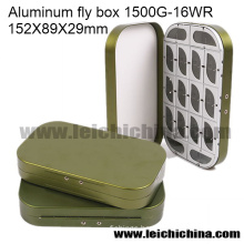 Wholesale Fly Fishing Box Aluminum Fly Box 16 Compartment